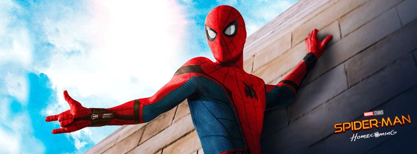 Spider Man Homecoming Facebook cover photo