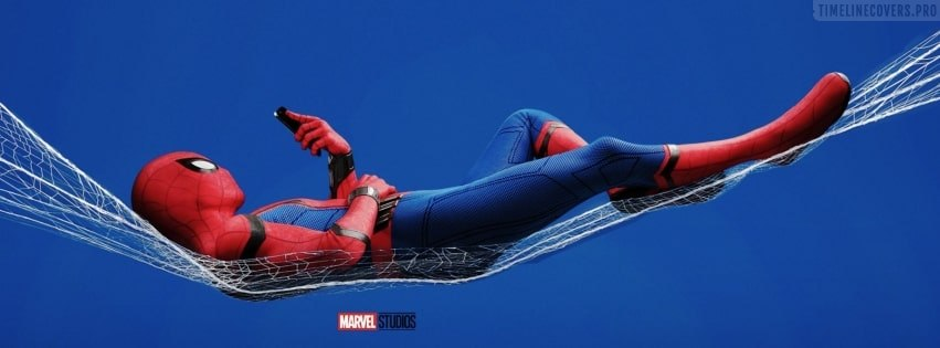 Spider Man Homecoming Playing with Mobile Facebook cover photo