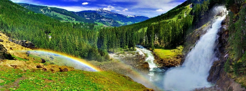 Spring Rainbow Facebook cover photo