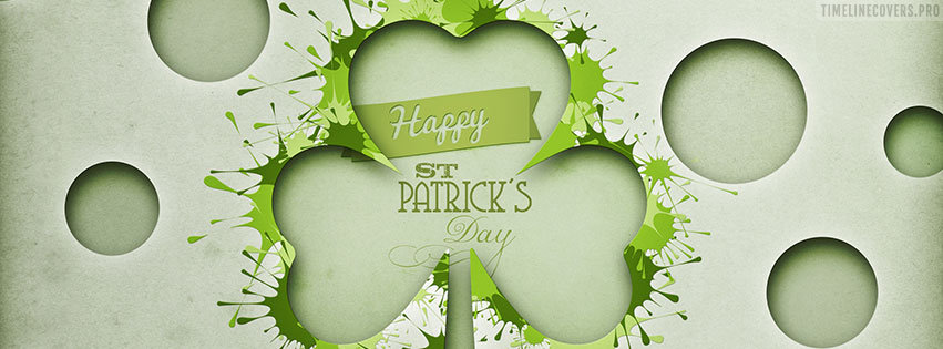 St Patricks Day Graphic Facebook cover photo