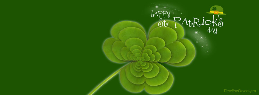 St Patricks Day Happy Facebook cover photo