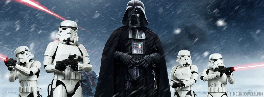Star Wars Darth Vader with Stormtroopers Facebook cover photo