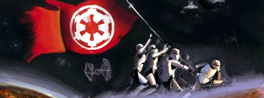 Star Wars Painting Facebook cover photo