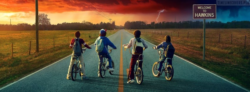Stranger Things Caleb Mclaughlin Finn Wolfhard Gaten Matarazzo Noah Schnapp Facebook cover photo