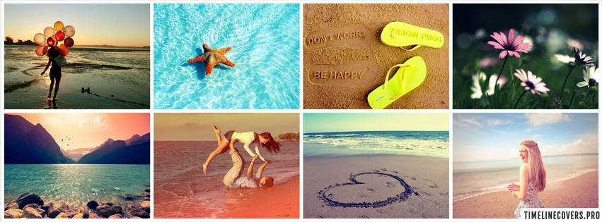 Summer Collage Facebook cover photo