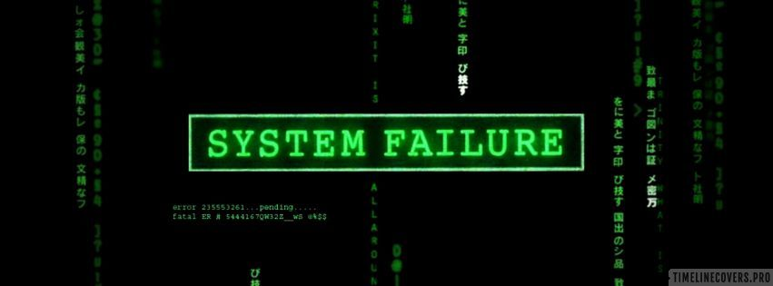 System Failure Hacker Nearby Facebook cover photo
