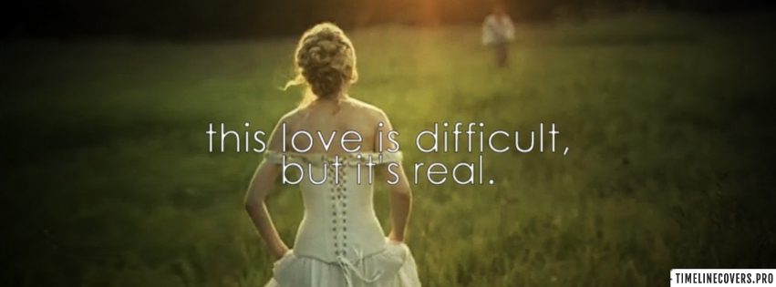 Taylor Swift Love Story Difficult Love Facebook cover photo