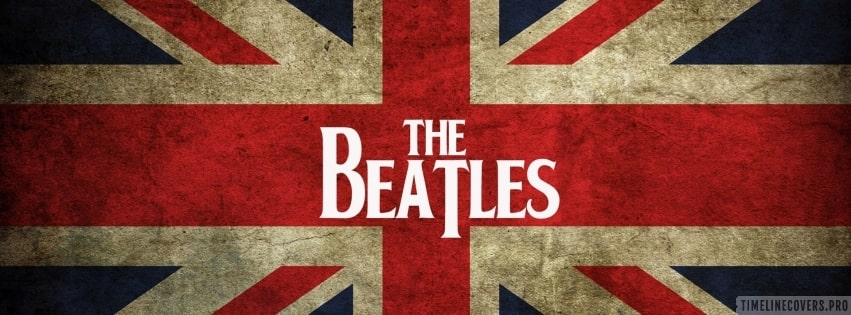 The Beatles on England Flag Facebook cover photo