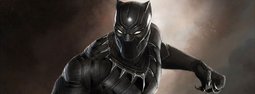 The Black Panther Film Marvel Facebook cover photo