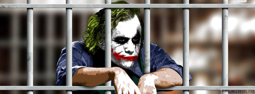 The Dark Knight Joker in Jail Facebook cover photo