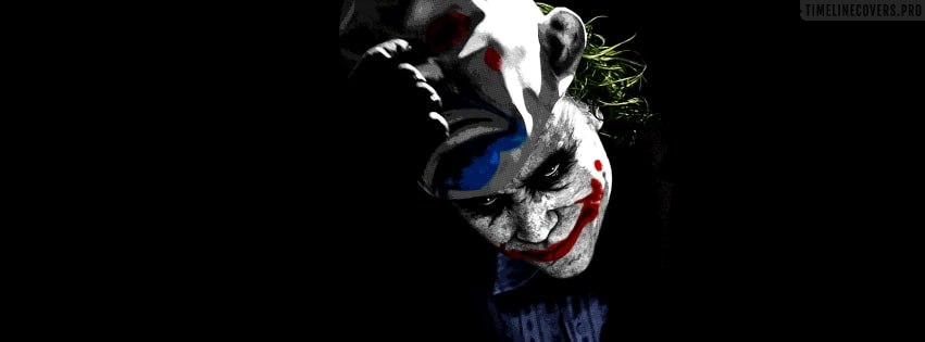 The Dark Knight Joker Removes His Mask Facebook cover photo
