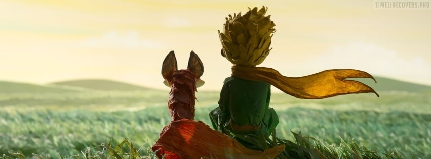 The Little Prince Sitting Together Facebook cover photo