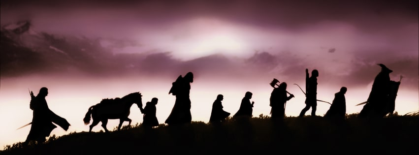 The Lord of The Rings The Fellowship of The Ring Facebook cover photo