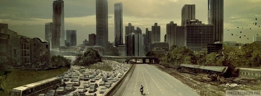 The Walking Dead Cityscape Facebook cover photo
