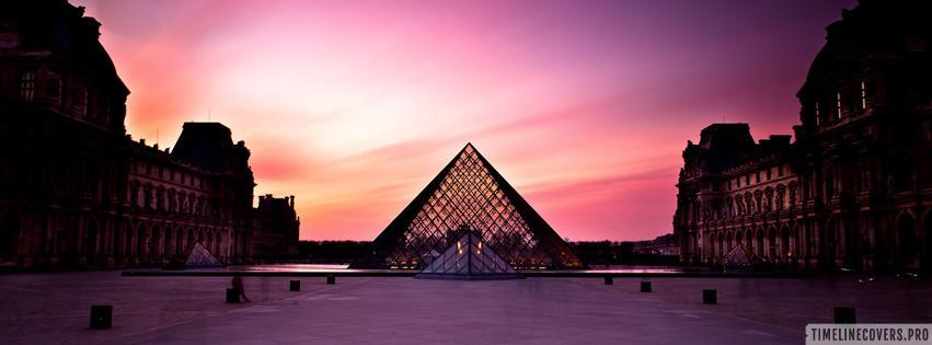 The Louvre Palace and The Pyramid Facebook cover photo