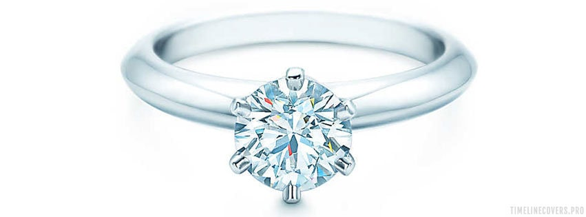 Tiffany 1 Carat Diamond Engagement Ring Facebook cover photo