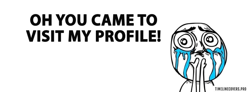To Visit My Profile Facebook cover photo