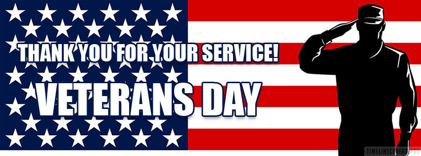 Veterans Day Thank You for Your Service Facebook cover photo