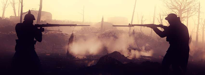 Video Game Battlefield 1 Fight Facebook cover photo