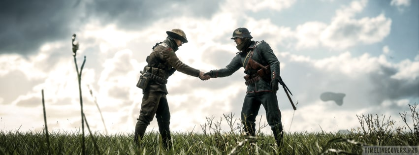 Video Game Battlefield 1 Handshake Facebook cover photo