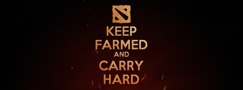 Video Game Dota 2 Keep Farmed Facebook cover photo