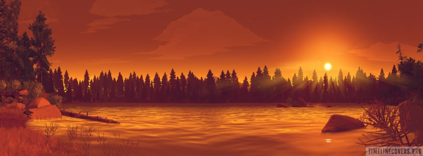 Video Game Firewatch That Sweet End of The Day Facebook cover photo