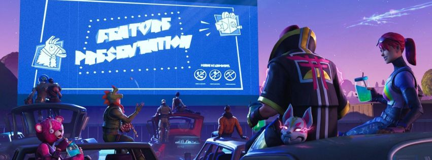 Video Game Fortnite Loading Screen Facebook Cover