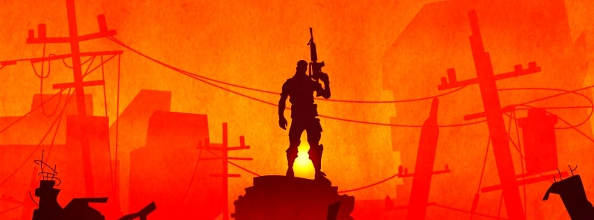 Video Game Fortnite Soldier Facebook cover photo