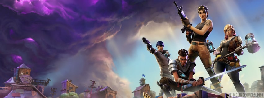 Video Game Heroes of Fortnite Facebook cover photo