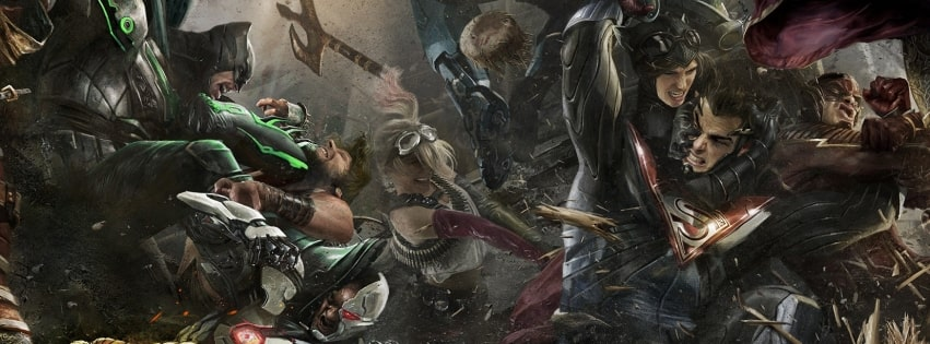 Video Game Injustice 2 Facebook cover photo