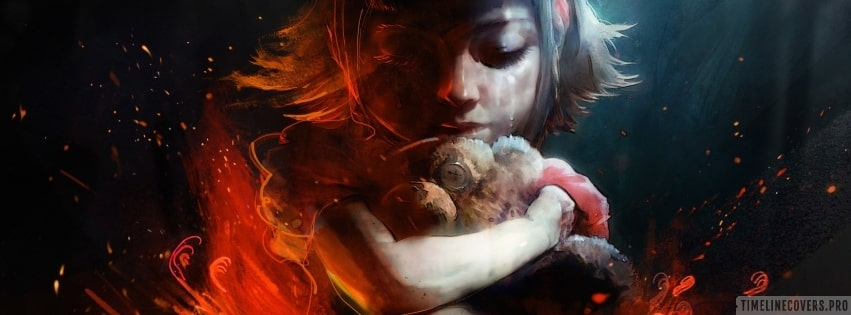 Video Game League of Legends Annie Crying Facebook cover photo