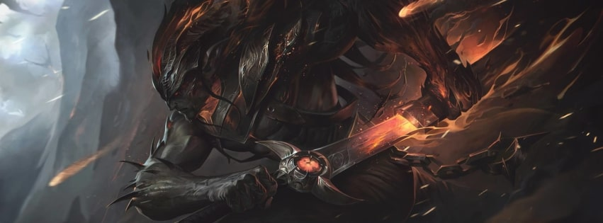Video Game League of Legends Nightbringer Yasuo Facebook cover photo