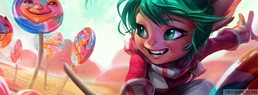 Video Game League of Legends Poppy Facebook cover photo