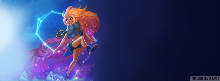 Video Game League of Legends Zoe Facebook cover photo