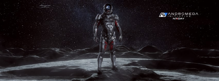 Video Game Mass Effect Andromeda Facebook cover photo