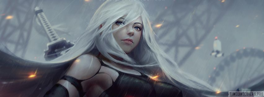 Video Game Nier Automata No Mask Facebook cover photo