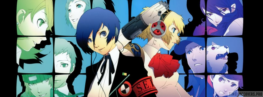 Video Game Persona 3 Facebook cover photo