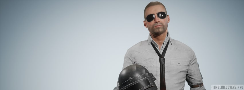 Video Game Playerunknowns Battlegrounds Pubg Helmet Guy Without Helmet Facebook cover photo