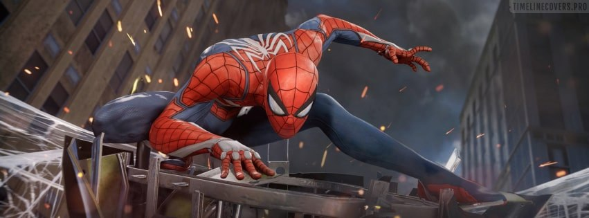 Video Game Spider Man PS4 Facebook cover photo