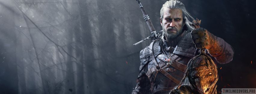 Video Game The Witcher 3 Wild Hunt The Score Facebook cover photo