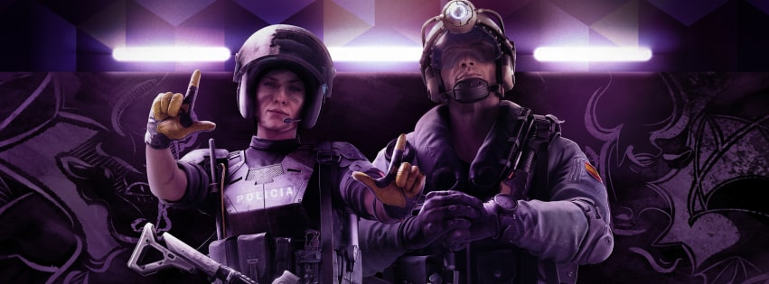 Video Game Tom Clancys Rainbow Six Siege Velvet Shell Operator Facebook cover photo