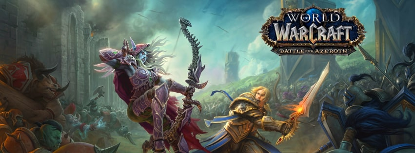 Video Game World of Warcraft Battle for Azeroth Facebook cover photo
