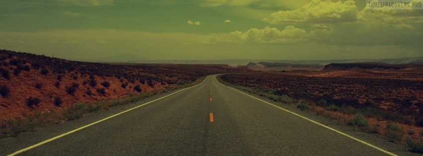 Vintage Old Desert Road Facebook cover photo