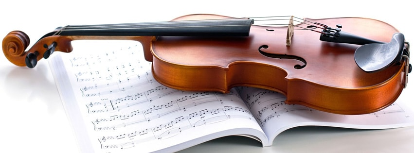 Violin Strings Facebook cover photo