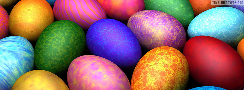 Vivid Colored Easter Eggs Facebook cover photo