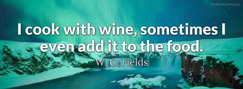 W C Fields Quote Facebook cover photo