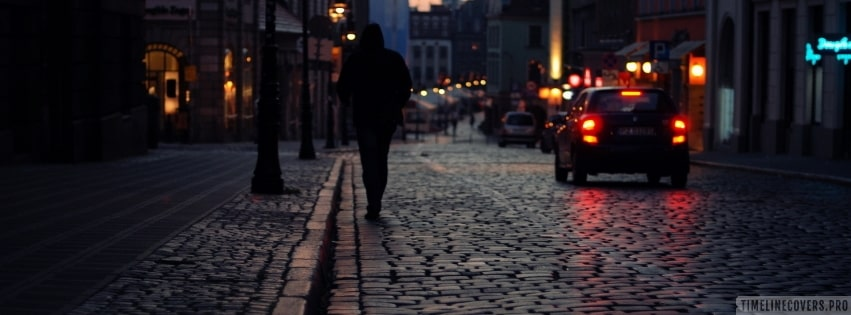 Walking Away Alone Lonely Sad Facebook cover photo