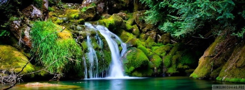 Waterfall Jungle Facebook cover photo