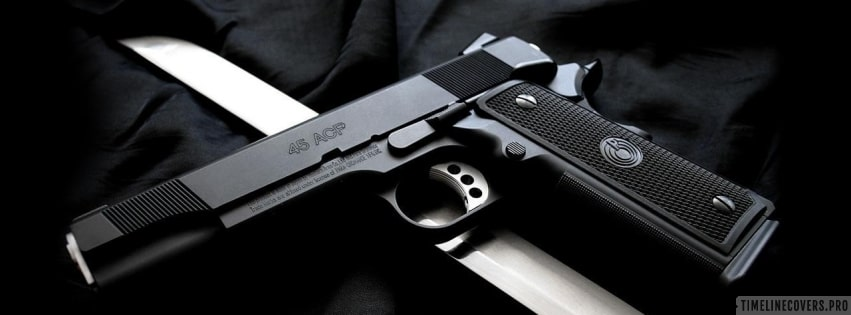 Weapons Pistol and Knife Facebook cover photo