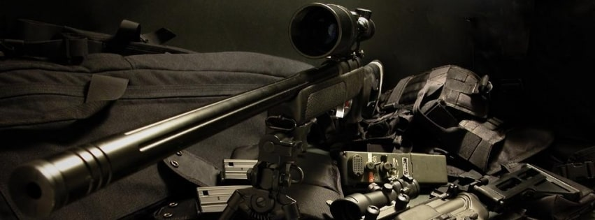 Weapons Sniper Rifle 5 56 Swat Facebook cover photo
